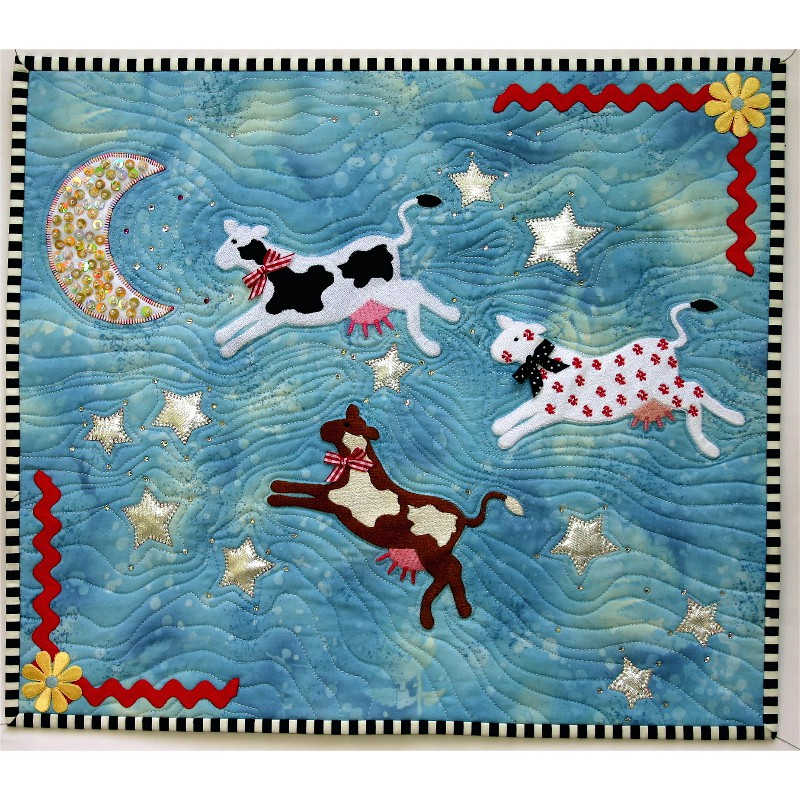 BERNINA Embroidered Cows