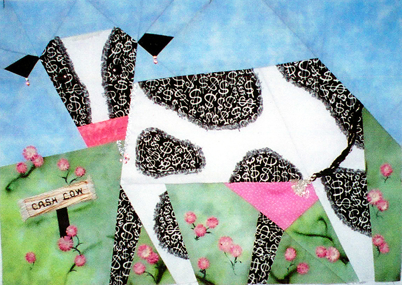 Cathie Hoover Studios : cow quilt block - Adamdwight.com